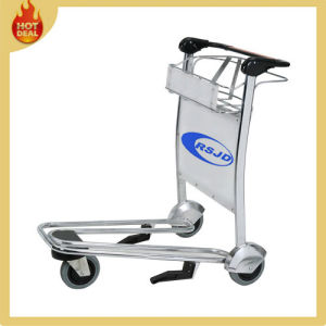 Hand Brake Stainless Steel Airport Luggage Trolley Cart (SS-GG5) pictures & photos