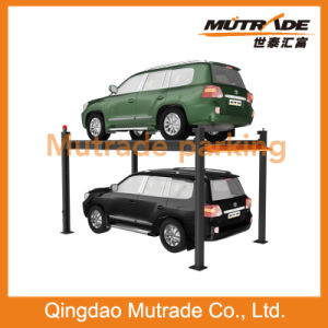 Ce 3ton Four Post Simple Hydraulic Car Parking Lift pictures & photos