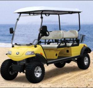 Electric Lifted Car/Cart/Buggy,Sightseeing Car,Utility Vehicle (DEL2042D, 4-Seater) pictures & photos