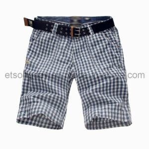 Black and White 100% Cotton Men′s Shorts for Plaids (MBE311215) pictures & photos