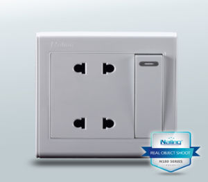 Double Switch Socket / Double Socket with 2 Pin