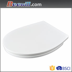 White Toilet Seat with Soft Close Hinge pictures & photos