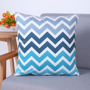 Digital Print Decorative Cushion/Pillow with Chevron Geometric Pattern (MX-91) pictures & photos