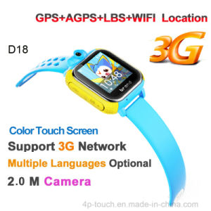 Multiple Languages 3G WCDMA Kids Tracker Watch with 2.0m Camera (D18) pictures & photos