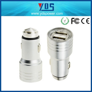 Transparent Plastic Cap Metal USB Car Charger 2.1A pictures & photos
