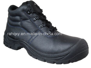 Dark Blue Stitching Basic MID-Cut Safety Shoes (HQ03060) pictures & photos