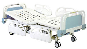 Movable Full-Fowler Hospital Bed with ABS Boards (Central locking) pictures & photos