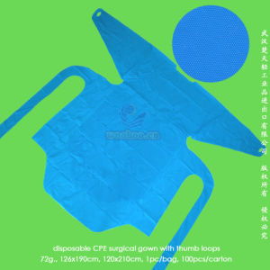 Disposable CPE Isolation Gown pictures & photos