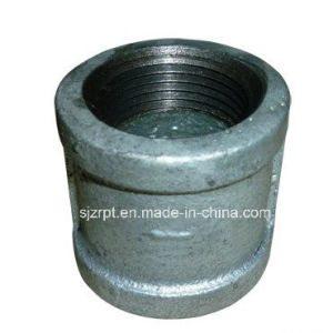 Banded Galvanized Malleable Iron Pipe Fitting Coupling with Ribs pictures & photos