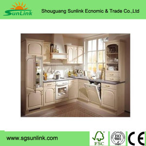 Best Sale New Design High Quality Cheap Kitchen Cabinets with Wood Door pictures & photos