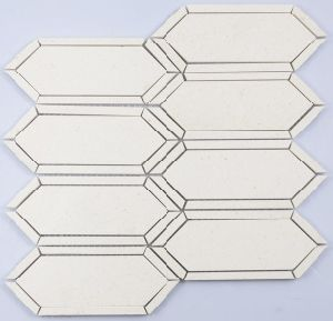 Big Hexagon Marble Tile with Machstick pictures & photos