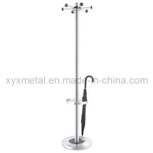 Floor Stand with Umbrella Holder Stainless Steel Coat Rack pictures & photos