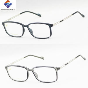 2016 Tr90 Front with Slim Metal Temples Optical Frames