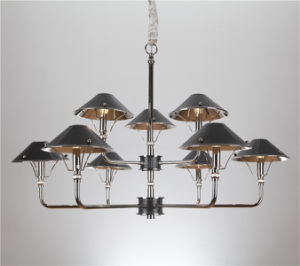 Decoration Iron Chandelier Lamp with Leather Shade (SL2077-6+3) pictures & photos
