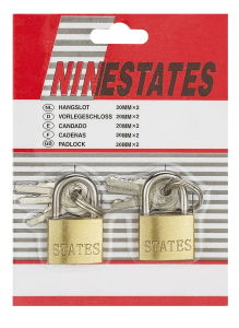 20mm Twosome Skin Card Padlock (BL411-2) pictures & photos