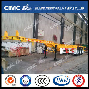 Cimc Huajun High Quality 45FT Gooseneck Skeleton Container Trailer pictures & photos