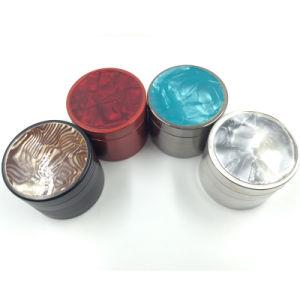 Beautiful Pattern Metal Herbal Grinder with Smoking Hand Crank Crusher (ES-GD-004) pictures & photos