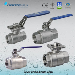 Stainless Steel Threaded 1PC/2PC/3PC Ball Valve with CE pictures & photos