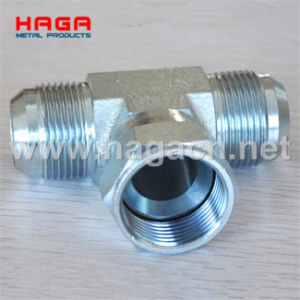 Hydraulic Adapter Jic Male Female 74 Cone Branch Tee Fitting pictures & photos