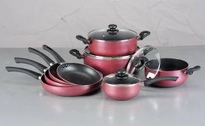 12PCS Pressed Aluminum Non-Stick Cookware Set