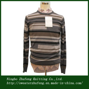 Men′s Jacquard Pullover Sweater Nbzf0042