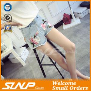 Fashion Women Embroidery Short Denim Jean Shorts Clothing