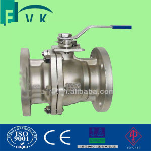 API Carbon Steel 3PCS Flange Ball Valve with CE Certificated