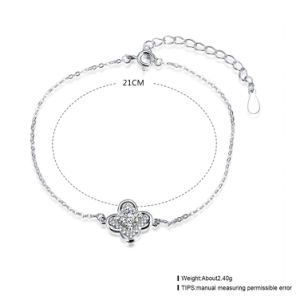 925 Sterling Steel Bracelet Fashion Clover Pendant with Zircon Inset pictures & photos