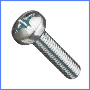 Phillips Pan Head White Zinc Machine Screw pictures & photos