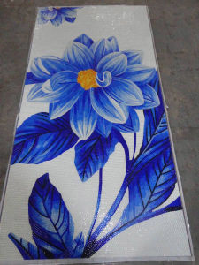 Flower Mosaic Pattern Art Mosaic for Wall (HMP725) pictures & photos