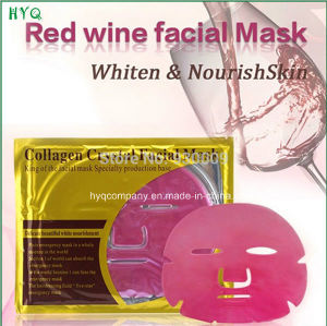 Collagen Crystal Series Whitening and Moisturizing and Anti-Aging Facial Mask/Red Wine Facial Mask pictures & photos