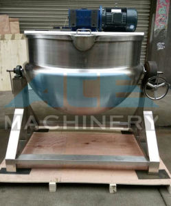 500L Tilting-Type Cooking Kettle with Heating Jacket (ACE-JCG-W7) pictures & photos