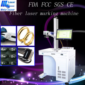 Holylaser Metal Fiber Laser Marking Machine with High Speed and Quality pictures & photos