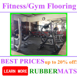 1000*1000*20mm Most Popular Flooring Tiles Gym Center Fitness Court pictures & photos