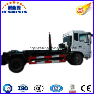 Dongfeng Hook Arm Lifting Euro 4 Garbage Container Tank Truck pictures & photos