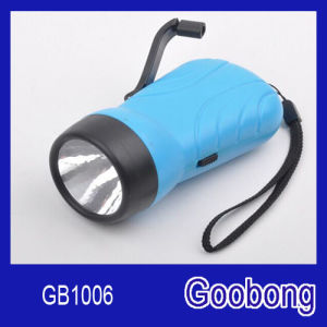 LED Wind up Crank Dynamo Rechargeable Flashlight pictures & photos