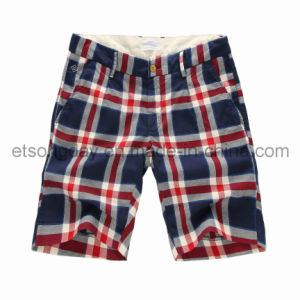 100% Cotton Men′s Navy Big Plaid Shorts (GT21329141) pictures & photos