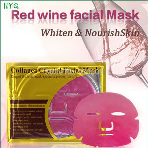 Collagen Crystal Series Red Wine Facial Mask Whitening and Moisturizing Facial Mask pictures & photos