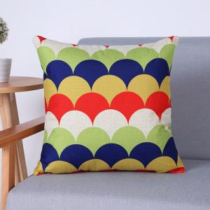 Digital Print Decorative Cushion/Pillow with Geometric Pattern (MX-79A) pictures & photos