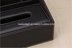 PU Leather Storage Box Tissue Box For Remote Control / Controller TV Guide  / Mail / CD Organizer