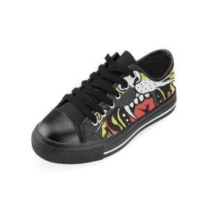 Style No Custom Sneaker 034 Low Cut Print Unisex Canvas Casual Shoes pictures & photos