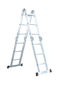 Multi Purpose Aluminum Folding Step Ladder 12.5ft Tool
