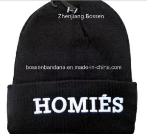 OEM Produce Customized Logo Sports Embroidered Acrylic Winter Knitted Beanie Cap pictures & photos