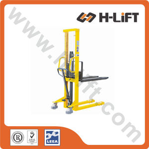 Fixed or Adjustable Fork Manual Stacker pictures & photos