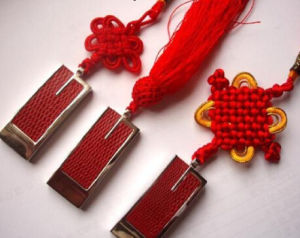 USB Gadget Plastic Chinese Knot Sliding USB Flash Memory Driver (1/2/4/8/16/32/64GB) pictures & photos