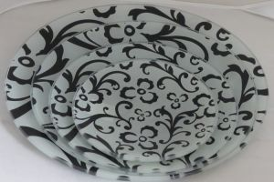 Seving Dinner Decorative Tempered Glass Plate pictures & photos