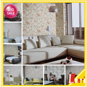 Home Decor Chinese Deep Embossed PVC Wallpaper (Alisa series) pictures & photos