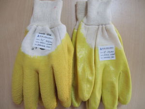 Nitrile Work Glove with Interlock Liner pictures & photos