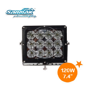 7.4′′ 120W Square CREE Truck LED Drving Light (SM6120) pictures & photos