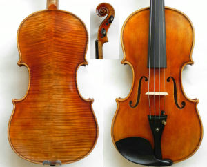 Master Violin 4/4! Stradivari 1716 Messiah Violin Model! Beautiful Flame Back Violin! Amazing Sound Violin Rh-333